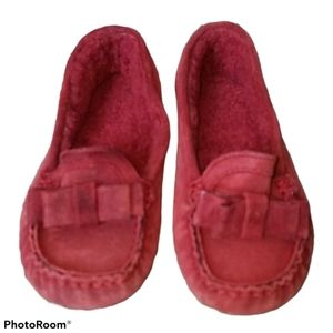 Shoes Cole Haan Loafers Red Suede Houseshoes EUC